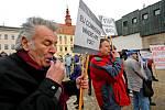 Demonstrace proti údajně vysokým cenám elektřiny v Jihlavě