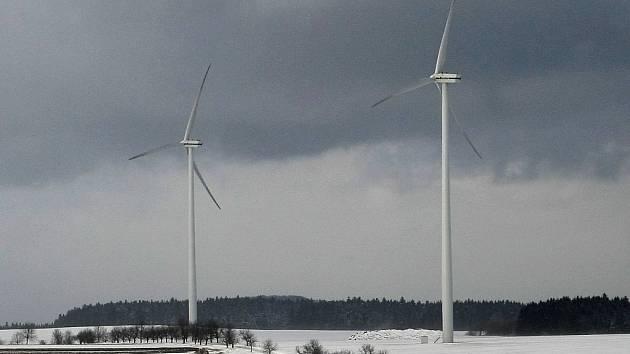 Větrné elektrárny v Pavlově na Jihlavsku.