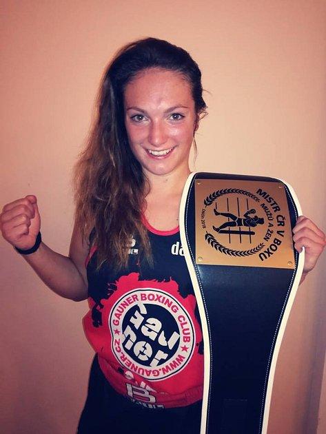 Vendula Sedláčková vyhrála šestého října Mistrovství České republiky vboxu.