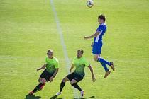 Fotbalové utkání 28. kola FNL mezi FC Vysočina Jihlava a 1. SK Prostějov.