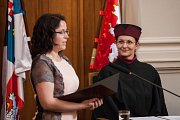 Promoce absolventů Vysoké školy polytechnické Jihlava v oborech Všeobecná sestra, Zdravotně sociální pracovník, Komunitní péče v porodní asistenci.