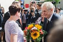 Návštěva prezidenta republiky v Kraji Vysočina v roce 2017. Setkání se zastupiteli na Krajském úřadě.
