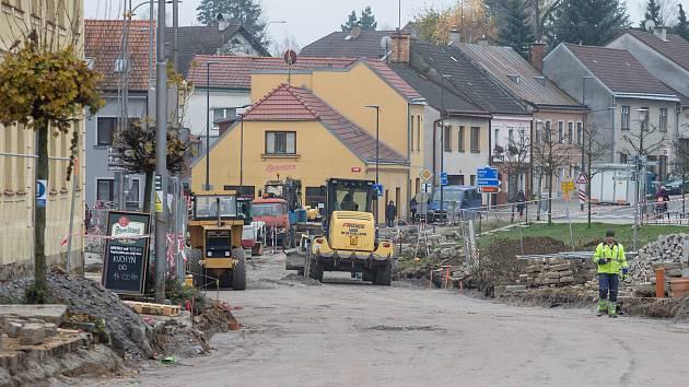 Rekonstrukce náměstí T. G. Masaryka v Třešti.