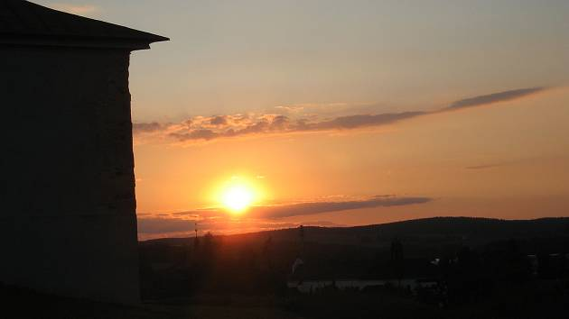 Západ slunce nad Zelenou horou