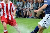 """Potvrdili dobrou formu. Fotbalisté Velkého Beranova jdou od výhry k výhře. V přípravě si připsali dvě pohárová vítězství, v neděli přidali další. V premiéře na """"bétřídní"""" úrovni rozstříleli Třebelovice 6:2."""