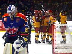 Jihlavští hokejisté podali v sobotu oproti středě výrazně lepší výkon a zaslouženě zdolali hráče  z Českých Budějovic.