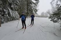Toto jsou běžkaři, kteří vyrazili na letošní stopu v lokalitách Vysoká a Nový Hojkov. Kudy přesně stopa vede, můžete zjistit na webových stránkách www.lyzarskejihlavsko.cz.