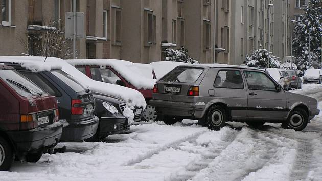 Zima na silnicích. Ilustrační foto