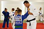 Olympijský vítěz a mistr světa Lukáš Krpálek vedl v Jesenici ukázkové tréninky.