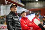 Trenér Viktor Ujčík v utkání o účast v předkole play-off 2019/20 mezi HC Dukla Jihlava a SK Horácká Slavia Třebíč.