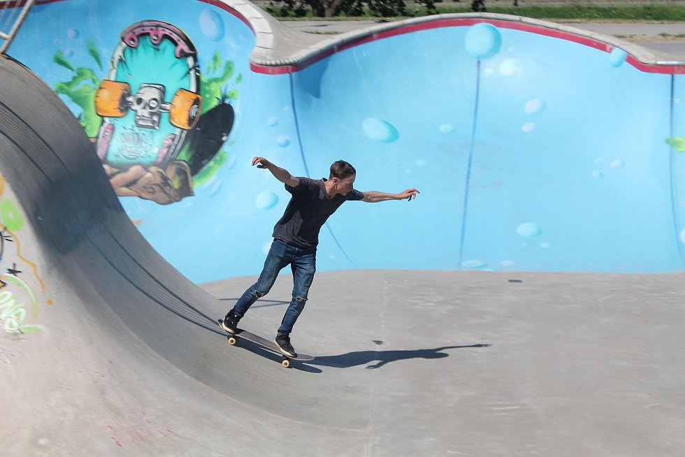 Pumptrack mladé až tak netáhne, radši jezdí ve skateparku.