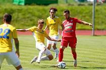 Přátelské utkání mezi FC Vysočina Jihlava a FC Zbrojovka Brno (1:2).