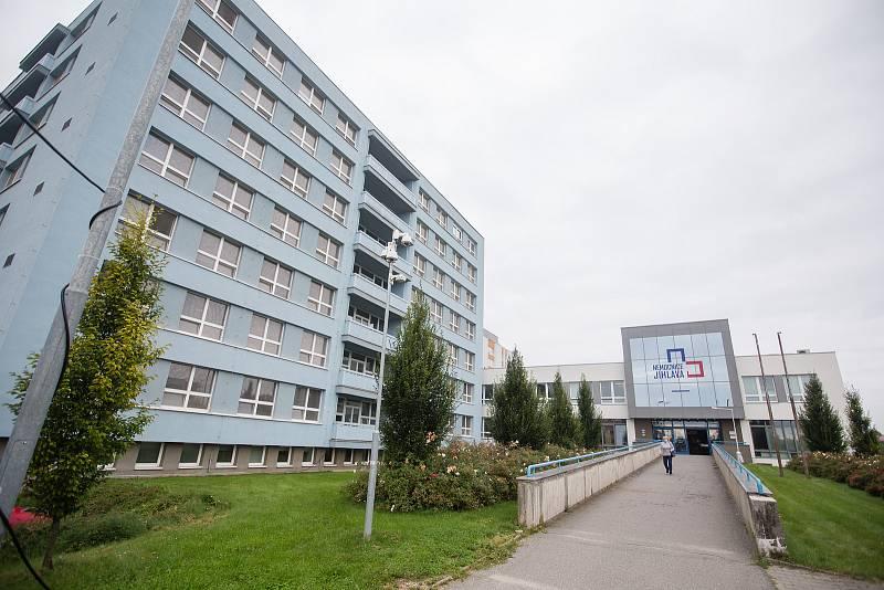 Odběrové místo na testování nákazy koronavirem v Jihlavě.