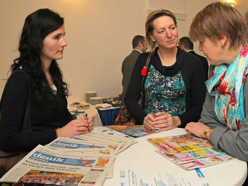 Na diskusi dorazily také zástupkyně z Oblastní charity Jihlava