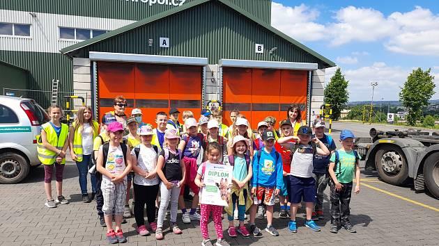 Základní škola Laškov navštívila jihlavský závod Enviropol a zoologickou zahradu.