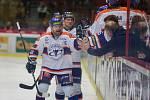 První zápas play off mezi HC Dukla Jihlava a HC Stadion Litoměřice.