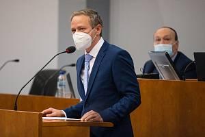 Vítězslav Schrek na ustavujícím zasedání zastupitelstva Kraje Vysočina.