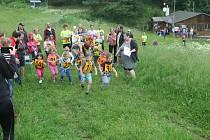Na Loucké sjezdovce závodily i děti.