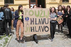 Fridays for future. Studenti jihlavského gymnázia se připojili k světové kampani.