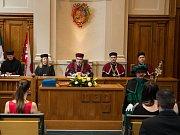 Slavnostní zakončení studia na Vysoké škole polytechnické v Jihlavě.