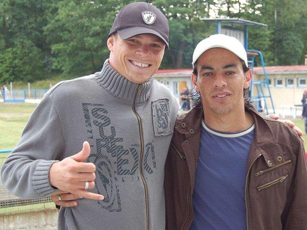 Jihlavští kanárci: zleva Willam De Santos a Marcelo Oliviera.