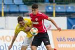 Fotbalové utkání FNL mezi FC Vysočina Jihlava a MFK Chrudim..