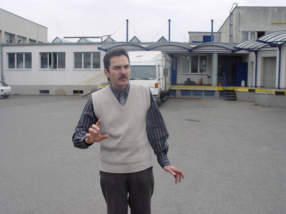Ředitel prádelny Evžen Zámek.
