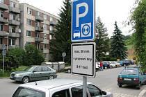 Parkovíní v třešťské Nerudově ulici