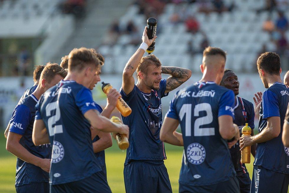 Fotbalové utkání FNL mezi FC Vysočina Jihlava a SK Líšeň.