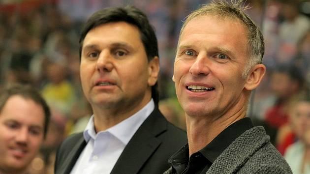 Dominik Hašek a Vladimír Růžička