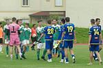 Fotbalisté Ždírce nad Doubravu (v zeleném) vyhráli nad staršími dorostenci Jihlavy 3:1.