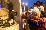 Vánoční trhy na Masarykově náměstí v Jihlavě.