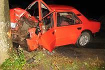 Vážným zraněním řidiče skončila  dopravní nehoda v obci Heroltice.