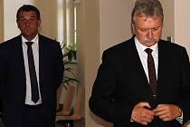 Libor Joukl a Jan Míka u soudu v Jihlavě.
