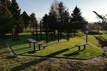 Workoutové hřiště ve Velkém Beranově po vylepšení.