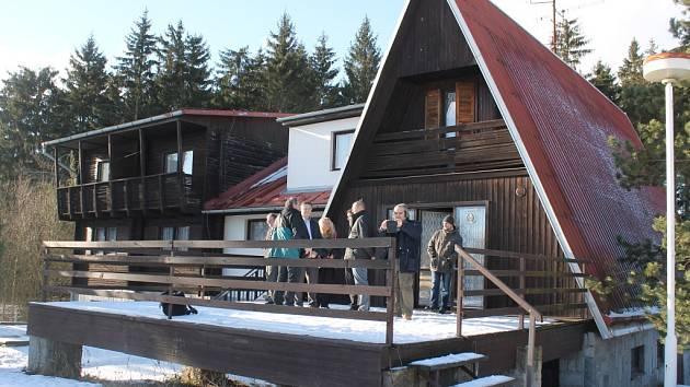 Rekreační středisko Okrouhlík nedaleko Čížova.