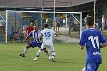Fotbalisté Velkého Beranova (v bílém) porazili Pacov 4:1.