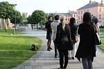 V Parku Gustava Mahlera se příchozí dozvěděli mnoho o tomto skladateli i židovské hostorii.