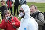 Lidé na Čeřínku protestovali proti úložišti