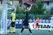 Jihlavský útočník Richard Svoboda ve finále Superfinále malého fotbalu.