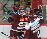 Zápas 41. kola hokejové extraligy mezi HC Dukla Jihlava a HC Sparta Praha.