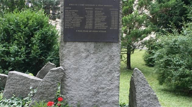 Památník. Pieta, kterou pořádají Konfederace politických vězňů a město Jihlava, se koná tuto neděli.