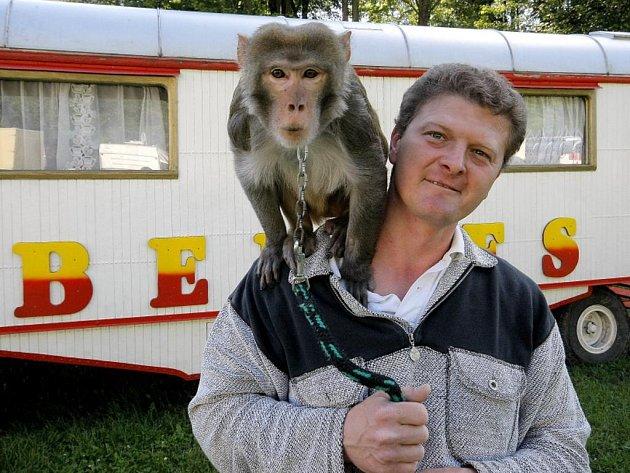 Ludvík Berousek z cirkusu Bernes