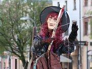 Slet a pálení čarodějnic se v pondělním podvečeru uskutečnil také na jihlavském Masarykově náměstí.