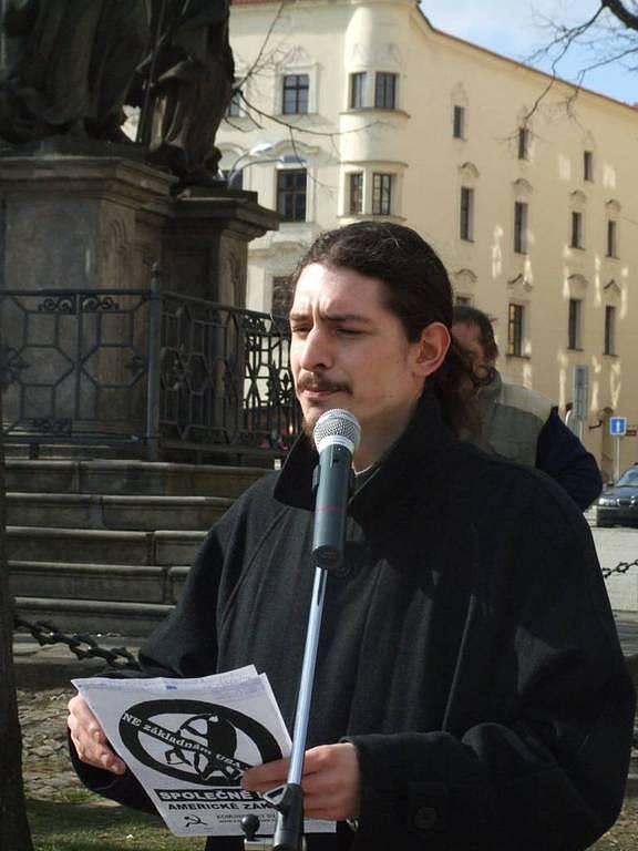 David Pazdera z Komunistického svazu mládeže.