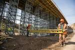 Stavba obchvatu Velkého Beranova dne 4. června 2020.