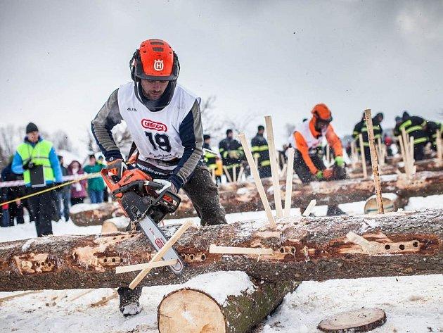 Dřevorubci si opět po roce měřili v Adršpachu síly.