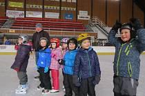 Novoměstské mateřské školy na ledě.