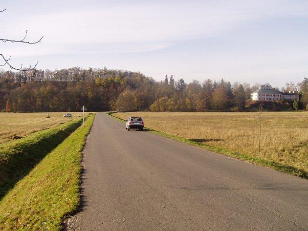 Po levé straně komunikace za Vilémovým mostem ve směru do Ratibořic mělo vyrůst nové stromořadí lip.