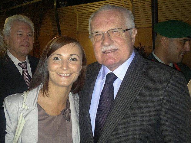 MARKÉTA KLEMMOVÁ, na snímku spolu s prezidentem České republiky Václavem Klausem v Rijádu.